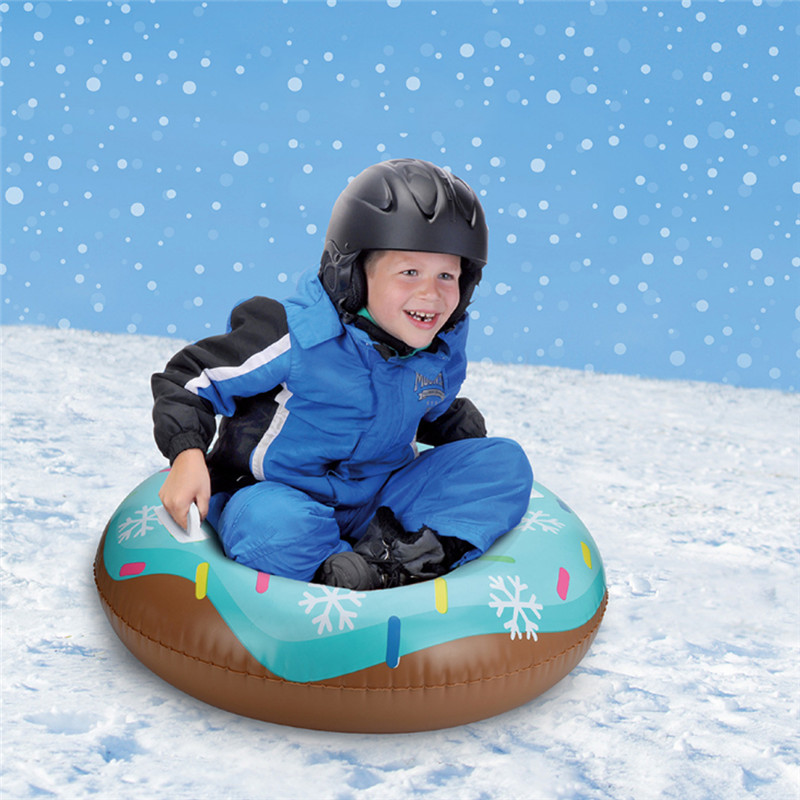 PVC Inflatable Durable Tire Snowboard Sleds Skiing Pad Board Handle Design Suitable For Both Children And Adult