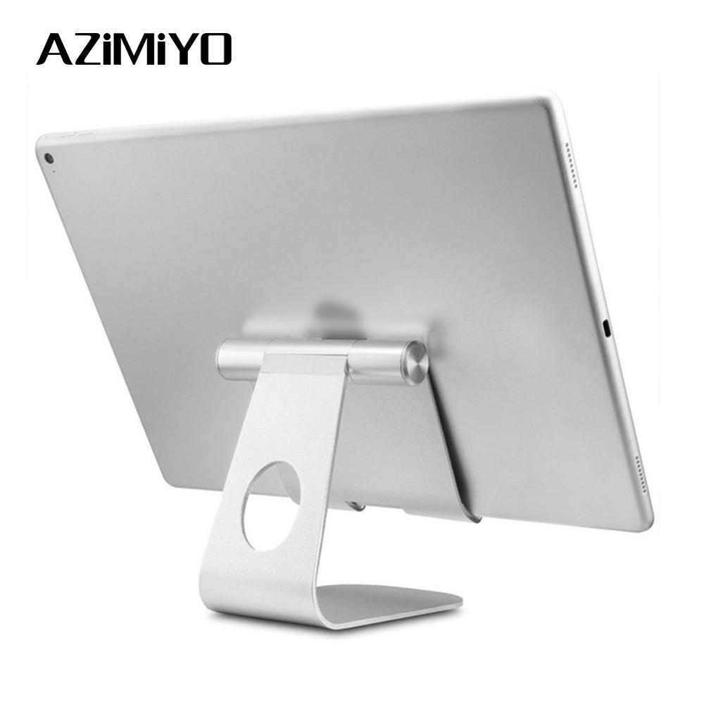 AZiMiYO Holder for ipad Multi-Angle Portable Aluminum Tablet Stand Samsung Tablet dock for huawei pad bracket for iphone image