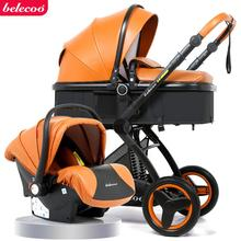2019 New Belecoo Baby Stroller 2 in 1 High-view Foldable Shockproof Pram Suite for Lying and Seating with Basket 2PCS w lawes suite no 1 for 2 viols and organ