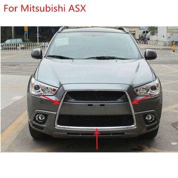 ABS chrome grille trim around Racing grills light bar trim For 2010-2012 Mitsubishi ASX