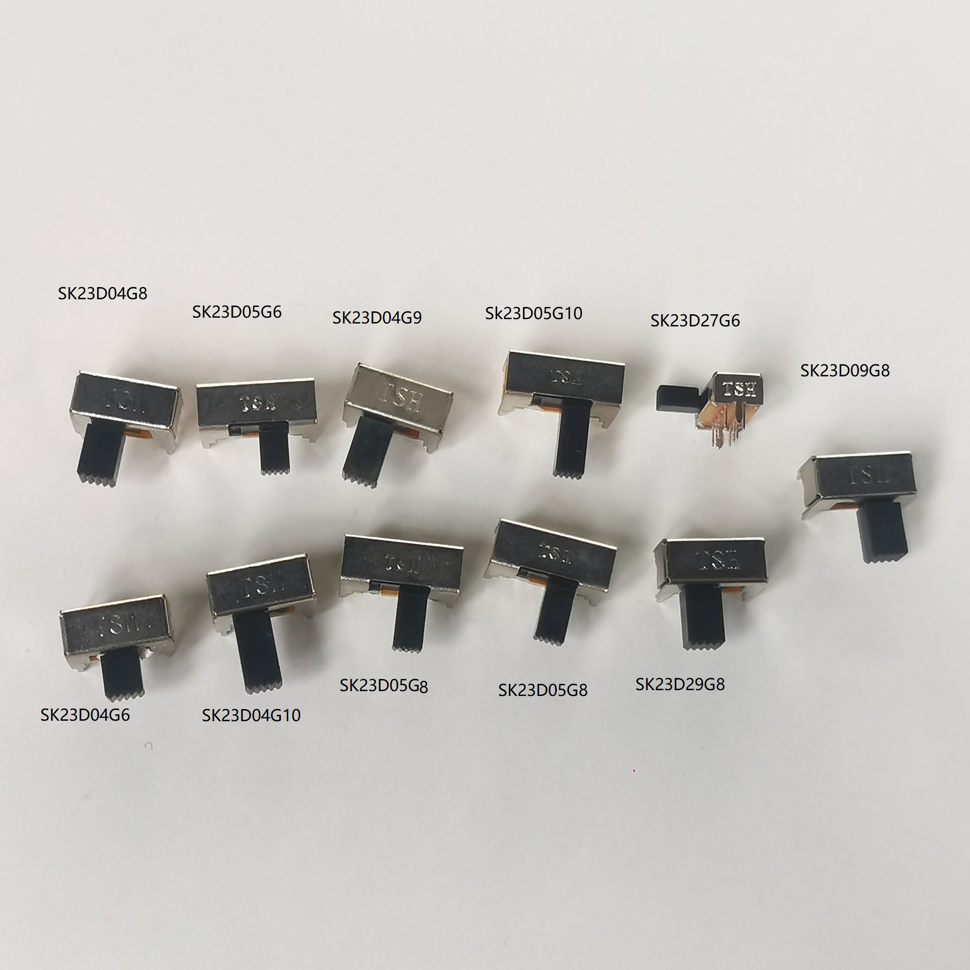 10PCS/Lot 8 Pin toggle switch Slide Switch Horizontal switch lever switch SK23D04G9 left three right one Ex-factor price