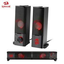 Redragon GS550 aux 3,5 мм мощные 2,0 стерео объемные музыкальные колонки звуковая панель для ПК компьютера ноутбука тв Mp3 громкоговорители