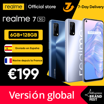 [Ship from Spain and France 3 Days delivery]realme 7 5G Dimensity 800U Smartphone 120Hz Display 48MP 5000mAh 30W Dart Charge 1