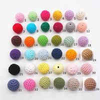 Chenkai 1000pc 16mm Crochet rond à tricoter perles en bois boules pour bricolage décoration bébé en bois anneau de dentition bijoux collier jouet