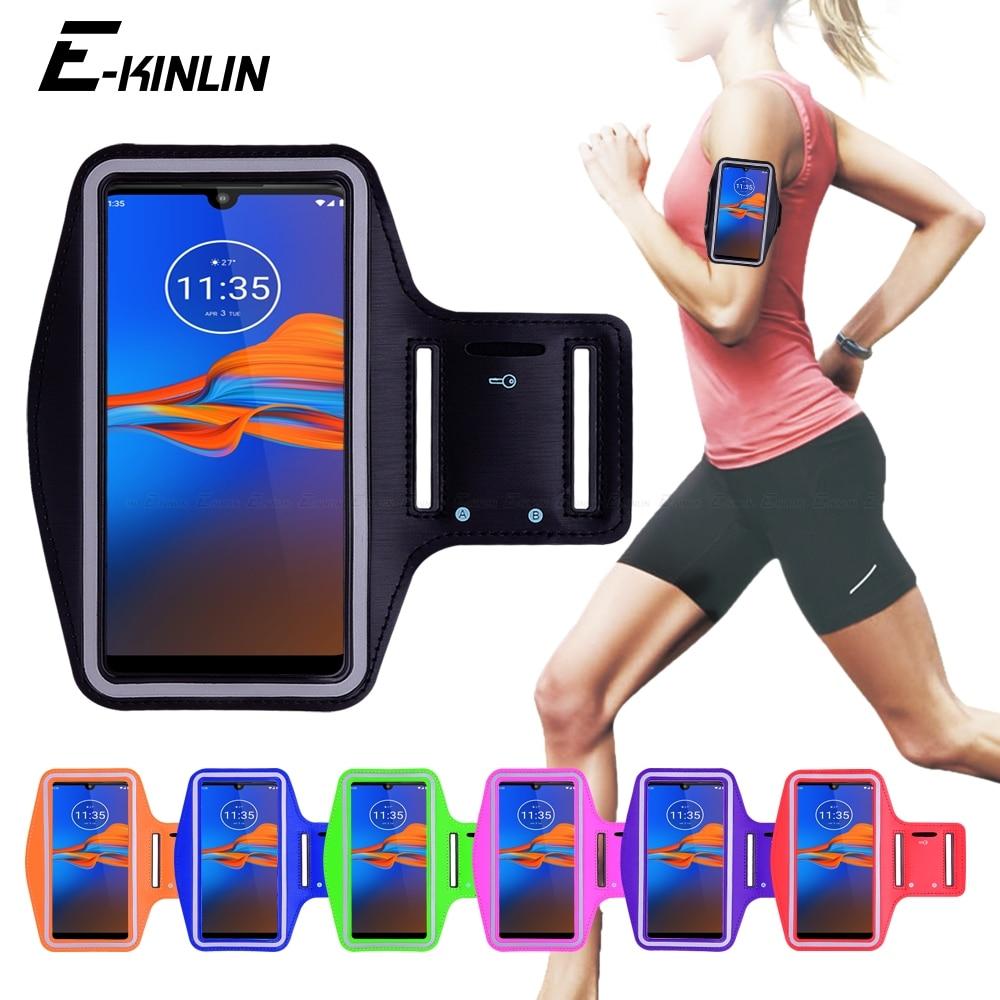 Running Jogging Gym Sports Bag Cover Arm Band Phone Case For Motorola Moto E6 E4 E6s E5 E3 Power X4 X Force Style Play M C Plus