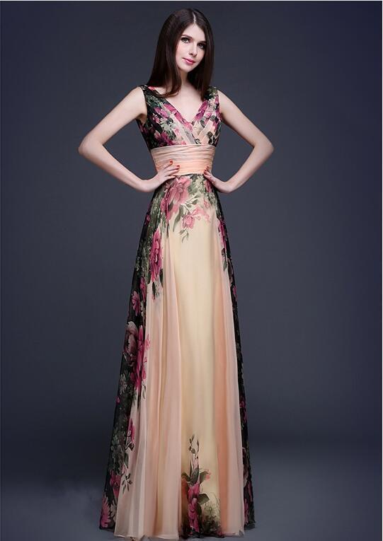 2018 Europe And America Elegant Shoulder Flower Dress WOMEN'S Evening Dress Long Skirts