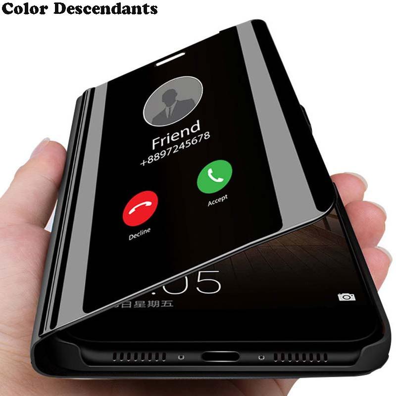 Smart Mirror Flip Case For Samsung Galaxy A01 A11 A21 A31 A41 A51 A71 A81 A91 J3 J5 J7 J4 J6 Plus J8 A6 A7 A8 A9 2018 A3 A5 2017