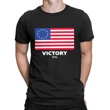 New Hot Mens 13 Star American Flag T-shirt Betsy Ross USA History Patriotic RETRO VINTAGE Classic t-shirt(China)