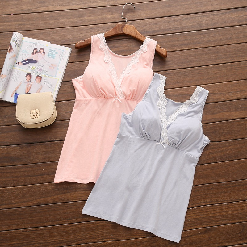 Maternity Clothes Nursing Top Sleeveless Camisole Breastfeeding Clothes Pregnant Women Wireless Camis Tank Top Nursing Vest