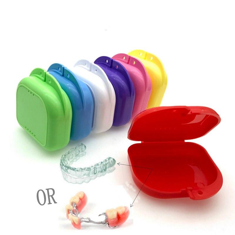 1pc Denture Bath Box Case Dental False Teeth Appliance Container Storage Boxes Dental Oral Care