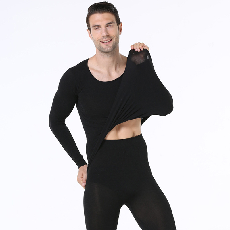 2 Piece Clothing Set Warm-Keep Winter Clothing For Male Female Warm Thermal Underwear Set Two Pieces Thermal Suit Long Johns