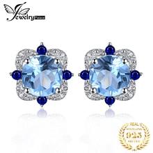 Stud Blue Genuine Gemstones
