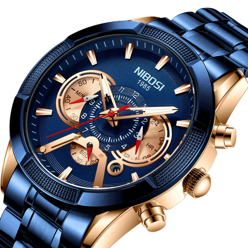 NIBOSI USA Watch 2020 Sport Waterproof Watch Men Fashion Quartz Wristwatch Luminous Chronograph Clock Relogio Masculino 1