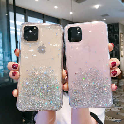 For Apple iphone 11 Case Case Soft Silicone Bling Glitter Transparent protective back cover for iPhone 11 Pro Max iphone11 11pro