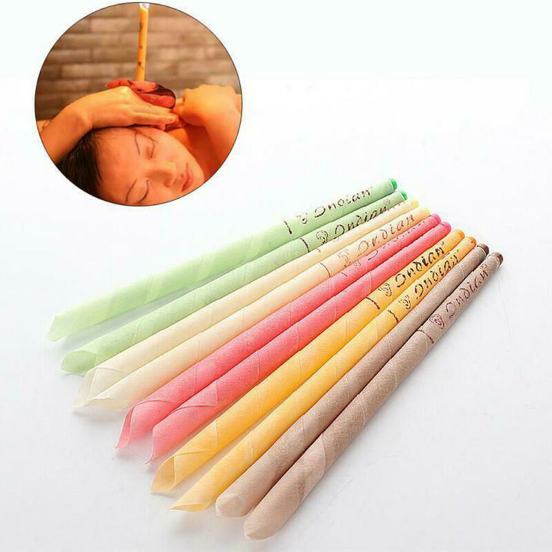 10pcs/lot Ear Candles Healthy Care Ear Treatment Ear Wax Removal Cleaner Ear Coning Treatment Indiana Therapy Fragrance Candling