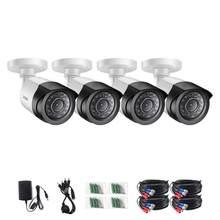 ZOSI 4 unids/lote 1080P HD-TVI cámara de seguridad CCTV de 2MP, visión nocturna de 65 pies, Kit de cámara de vigilancia de bala a prueba de ruedas para exteriores