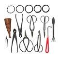 10Pcs Bonsai Werkzeug Set Stahl Umfangreiche Cutter Schere Kit Mit Nylon Fall Für Garten Beschneiden Werkzeuge