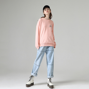 Image 4 - Toyouth New Cartoon Printed Long Sleeve Hoodies Women Casual Round Neck Long Sleeve Sweatshirts