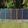 Новая гибкая солнечная панель 100 Вт 18 в комплект PERC Cell Real 100% 100 Вт для 12 В батареи RV/лодки/дома/кемпинга/автомобиля 12 в зарядное устройство