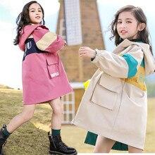 Girls Jacket Children Outwear Windbreaker Spring Coat Teenage Autumn 4-13t