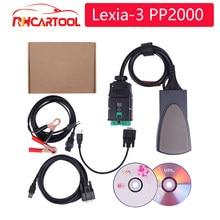 Obd2 estilo de coche último V7.65 Lexia3 Lexia 3 V48 herramienta de diagnóstico Lexia-3 PP2000 V25 con Diagbox envío gratis