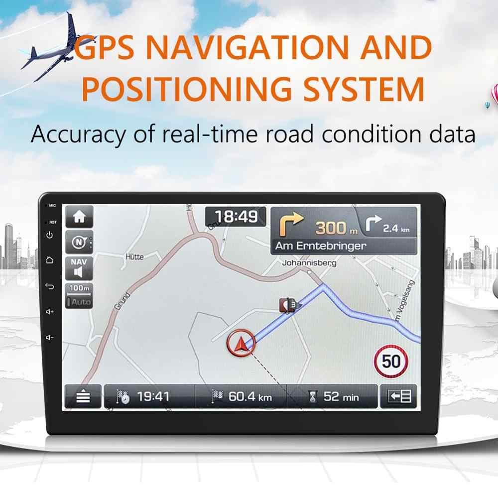 VODOOL Android 9.0 araba Stereo çift DIN GPS navigasyon Bluetooth WiFi FM radyo 10 inç IPS ekran Dash kafa ünitesi alıcı