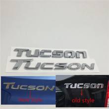 Para hyundai tucson tronco traseiro bagageira emblema emblema logotipo placa de identificação chrome adesivos