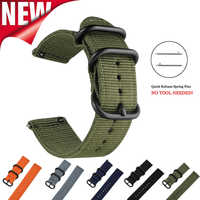Bracelet en Nylon haut de gamme otan facile à installer pour bracelet de montre Garmin Fenix HR bracelet de remplacement à dégagement rapide 26mm