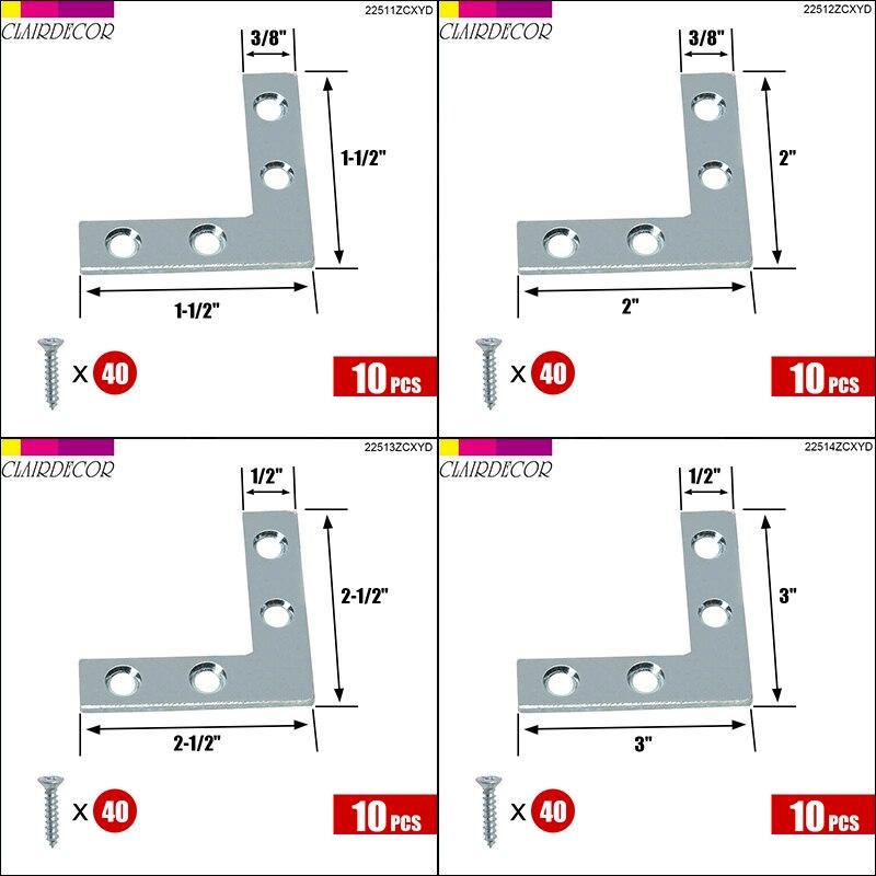 Flat Corner Right 90 Degree Angle Bracket Repair Plate Fixing Brace