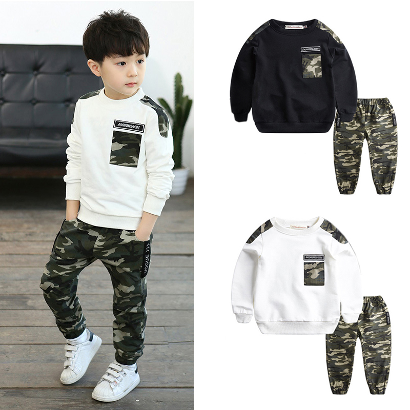 IENENS Clothing-Sets Tracksuits Outfits Military-Clothes Baby-Boys Young Kids Camouflage