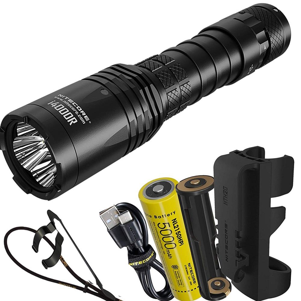 NITECORE I4000R Led Flashlight 4 X CREE XP-L2 V6 LEDs 4400 Lumen USB-C Rechargeable Tactical Flashlight With 5000mAh Battery