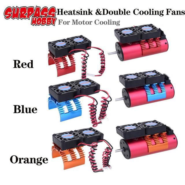 SURPASS HOBBY zdalnie sterowany silnik wentylator z radiatorem do 1/10 1/8 RC Car 540 550 3660 3670 Motor ESC chłodzenie szybkie części do samochodów zdalnie sterowanych