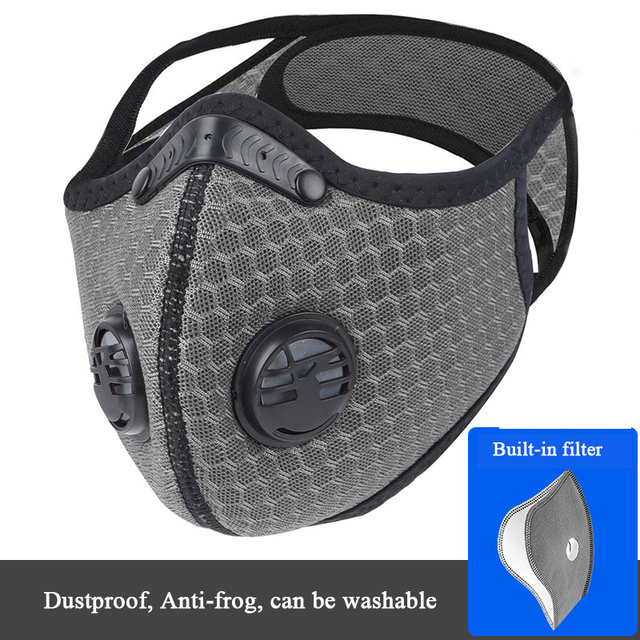 Activated Carbon Mask Dust-proof Anti-fog Cycling Face Mask PM 2.5 Anti-Pollution Outdoor Sport Training Running Masks 4