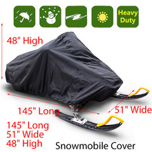 Snowmobile Cover Waterproof Dust Trailerable Sled Cover Storage Anti UV All Purpose Cover Winter Motorcyle Outdoor 368x130x121cm
