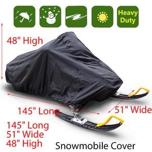 Image 1 - Snowmobile capa impermeável poeira trailerable trenó capa de armazenamento anti uv all purpose inverno motorcyle exterior 368x130x121cm