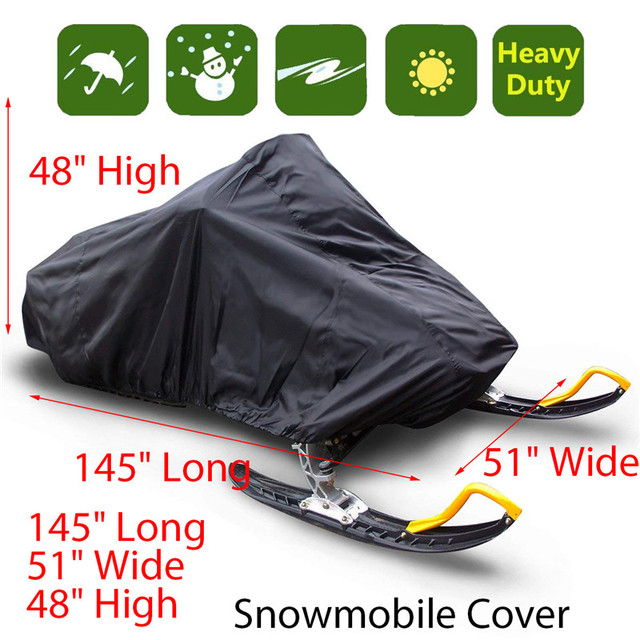 Snowmobile capa impermeável poeira trailerable trenó capa de armazenamento anti uv all purpose inverno motorcyle exterior 368x130x121cm