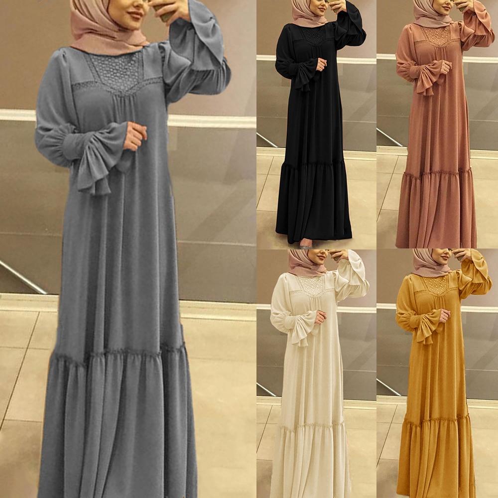 Elegant Kaftan Black Abaya Dubai 2020 Muslim Gown Dress Caftan Islamic Clothing Fashion Bangladesh Long Hijab Evening Dress