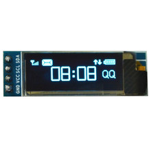 Electronic OLED Easy Install White Digital Spare High Resolution IIC I2C 128x32 0.91 Inch LCD Display Module(China)