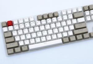 Image 4 - Grigio bianco 87/104 tasti keycap PBT retroilluminato a doppio scatto profilo OEM interruttore MX per cherry/NOPPOO/Flick/Ikbc vendi solo portachiavi