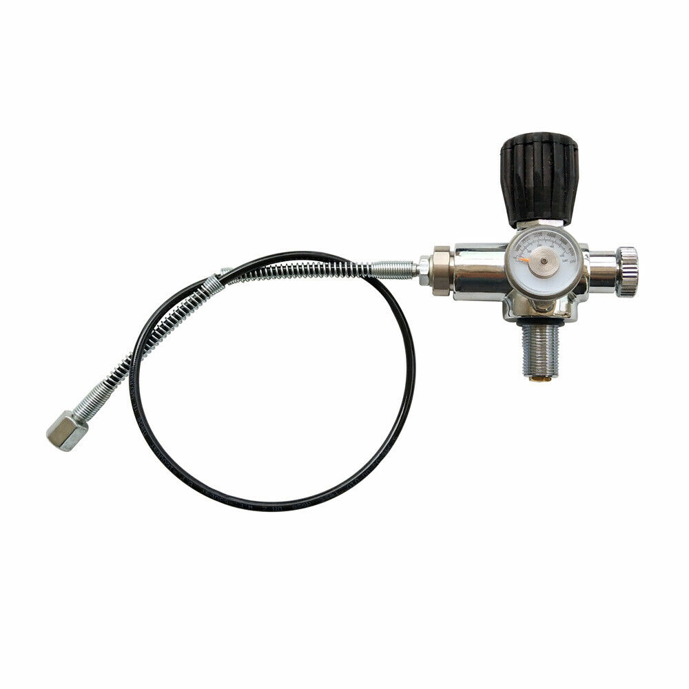 Jubilee PCP Air Gun Filling Station Refill Adapter Charging Valve 350BAR/5000PSI with MicroBore Hose M18x1.5