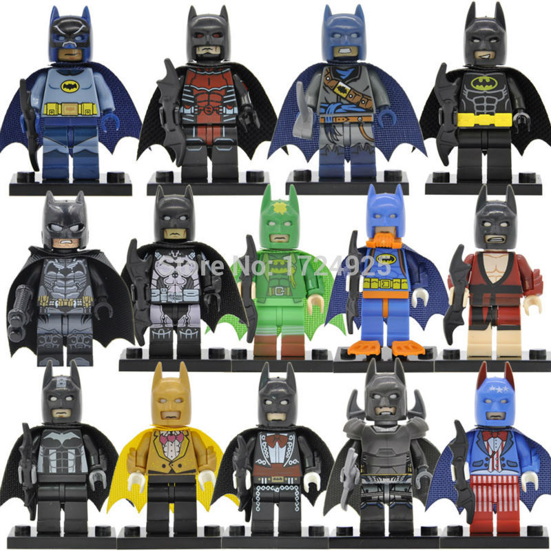 Single Sale PG Series Batman Figure DC Super Hero Bruce Wayne Compatible Legoing Building Blocks Kids Toys For Children