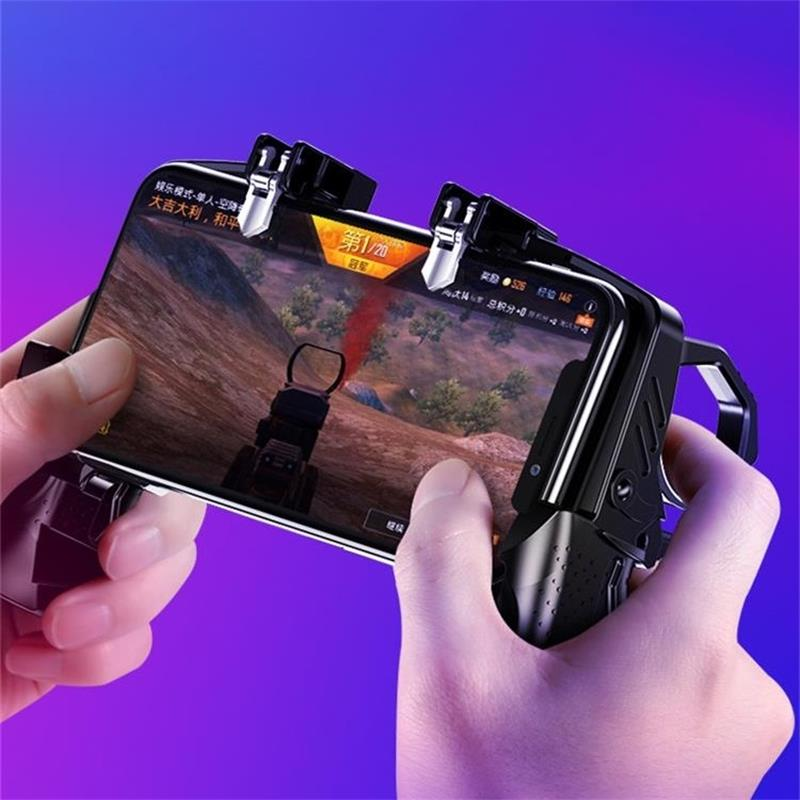 K12 New Trigger Design Mobile Phone Gamepad Gadget Four Finger Operation Controller L1 R1 Joystick Chicken Dinner M4 Hand Feel