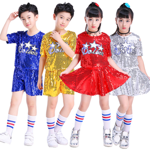 Танцевальные костюмы в стиле хип-хоп для джаза; Детская одежда для черлидера; Стразы с блестками; Одежда для сцены; Платья для девочек; Вечер...