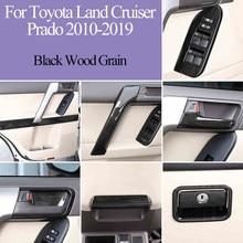 Accesorios para decoración de interiores de coche de madera, molduras de Marcos, color negro, para Toyota Land Cruiser Prado, FJ150, 150, 2007-2012