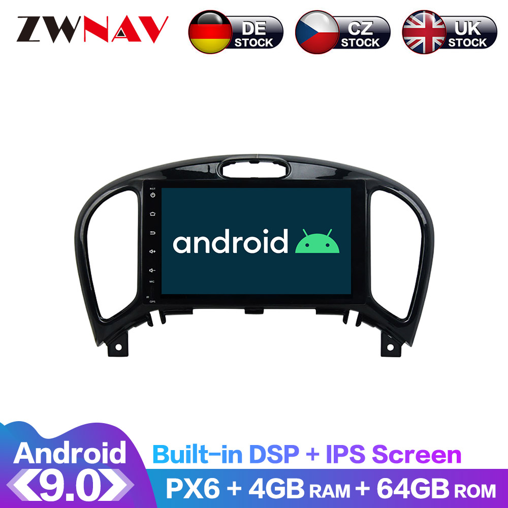 Android 9 IPS Screen PX6 DSP For Nissan Juke YF15 2010-2019 Car DVD Player GPS Multimedia Player Radio Audio Stereo