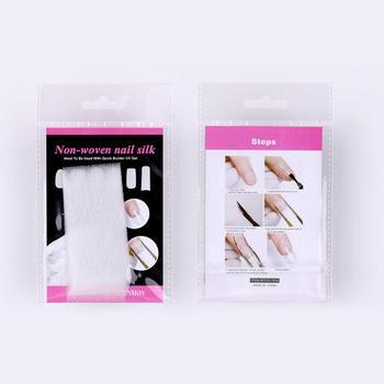 Juego de accesorios para manicura profesional, accesorios de fibra de vidrio para extensiones de uñas Nail Art, de fibra de vidrio y seda, 10 Uds.