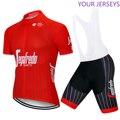 2020, красная Команда TERKKING, летняя, профессиональная, Спортивная, гоночная, UCI World Tour Pro, велосипедная майка, велосипедные шорты, набор, Ropa Ciclismo, в...
