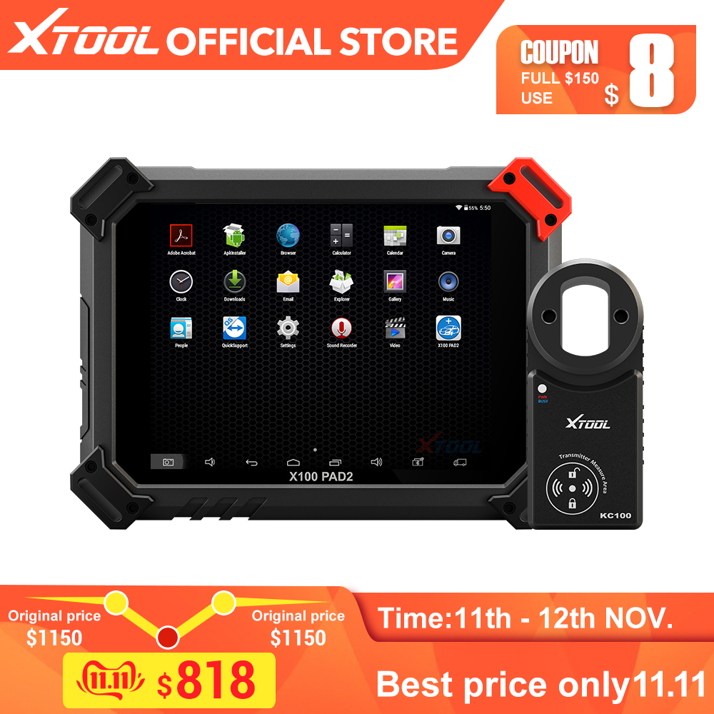 X100 PAD2 OBD2 Diagnostic Tool with 4th and 5th Immo auto Key programmer All Special functions for most of the car models-in Auto Key Programmers from Automobiles & Motorcycles