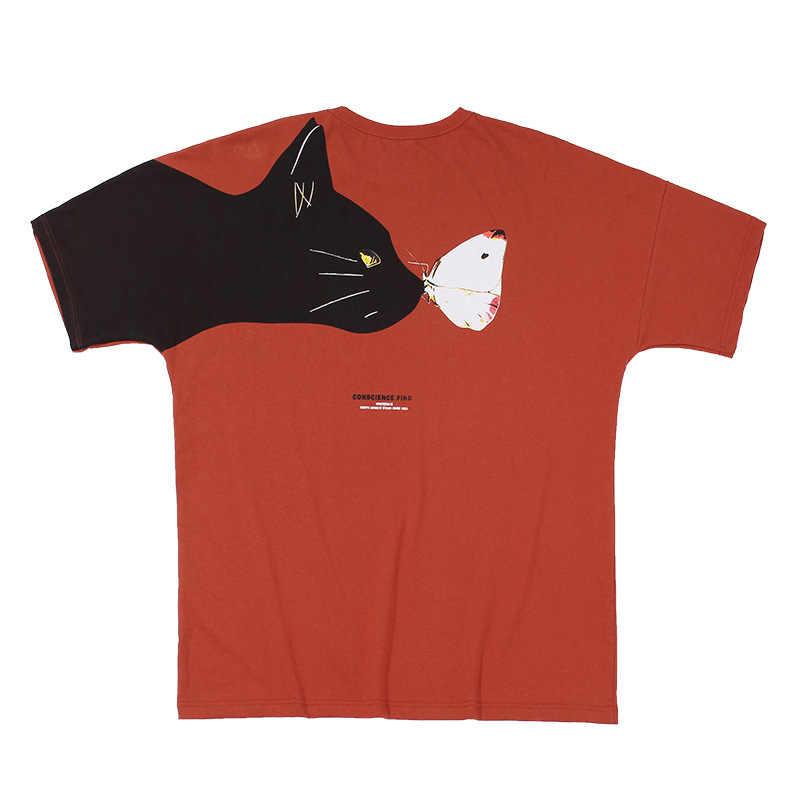 Streetwear Baumwolle Männer T Shirt 2020 Sommer Kurzarm Herren T Shirts Druck Männlichen T Hemd Homme