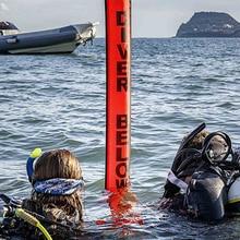 ดำน้ำSMB 1.2m 1.5m 1.8m Buoyที่มีสีสันความปลอดภัยInflatableดำน้ำSMBพื้นผิวสัญญาณMARKER Buoyอุปกรณ์เสริม